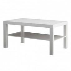 طاولة خشب للصالون لون ابيض 90*55 سم