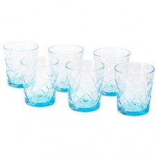 كأس منقوش أزرق 6 قطع