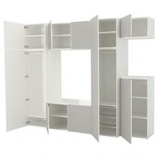خزانة ملابس لون أبيض-رمادي فاتح