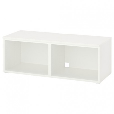 طاولة تلفزيون لون أبيض+ أرجل فولاذ