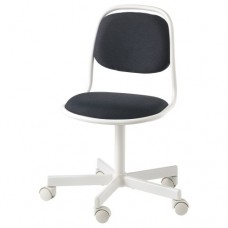 كرسي مكتب أطفال لون أبيض وأسود
