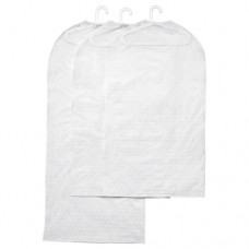 غطاء الملابس، طقم من 3, أبيض شفاف