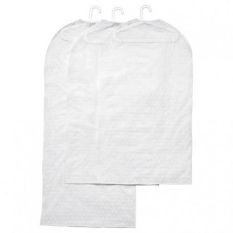 غطاء الملابس، طقم من 3 أبيض شفاف