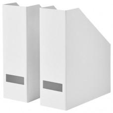حافظة مجلات لون أبيض