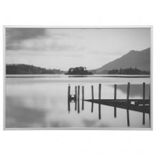 صورة بإطار lake لون ألومنيوم