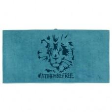 منشفة حمام رسمة أسد لون أزرق