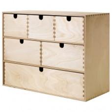 صندوق صغير مع أدراج خشب بتولا رقائقي