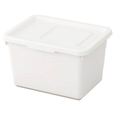 صندوق مع غطاء أبيض 19x26x15 سم