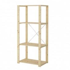 وحدة رفوف خشب لين 78x50x171 سم