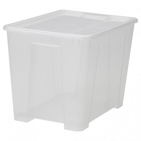 صندوق مع غطاء شفاف 39x28x28 سم