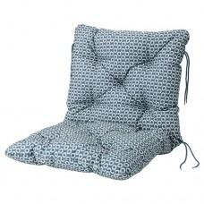 وسادة مقعد/ظهر، للأماكن الخارجية, أزرق