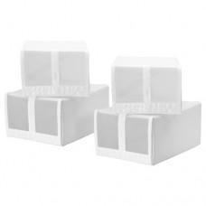 صندوق أحذية, أبيض 4 قطع
