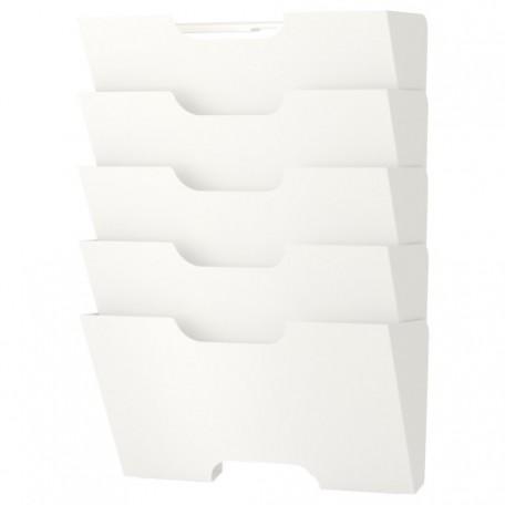 منصة صحف للحائط لون أبيض