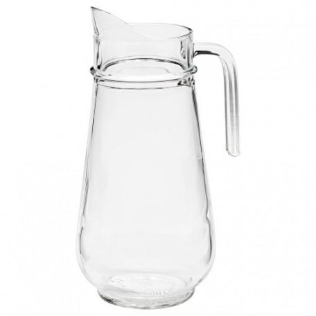 إبريق زجاج شفاف