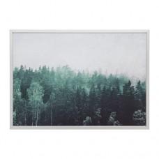صورة بإطار قمم أشجار لون الومنيوم