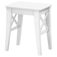 مقعد تسريحه خشب لون أبيض