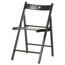 كرسي قابل للطي لون أسود  زان مصمت