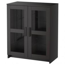 خزانة مع أبواب, زجاج لون أسود