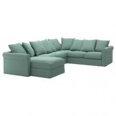 صوفا زاوية، 5-مقاعد, بأريكة استرخاء,أخضر فاتح