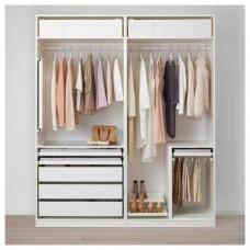 خزانة ملابس مفتوحه لون أبيض