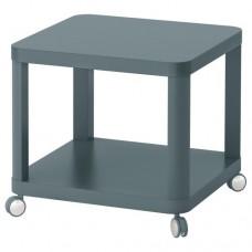 طاولة جانبية على عجلات لون فيروزي