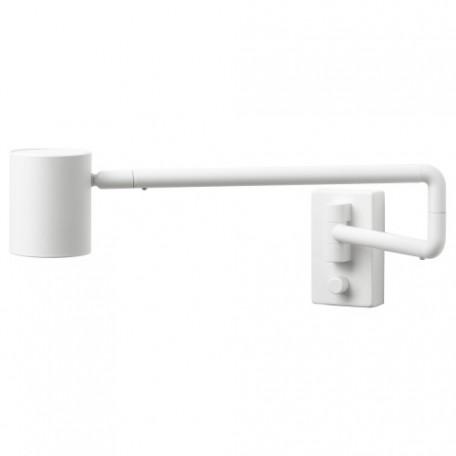 مصباح حائط مع ذراع، بأسلاك أبيض