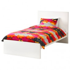 سرير عالي من الخشب لون أبيض 90x200 سم