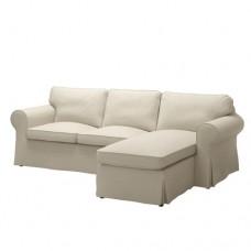 صوفا 3 مقعد أريكة استرخاء لون بيج داكن