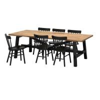 طاولة و6 كراسي السنط أسود