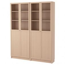 مكتبة لون خشبي 160x202x30 سم