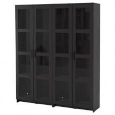 تشكيلة تخزين مع أبواب زجاج أسود