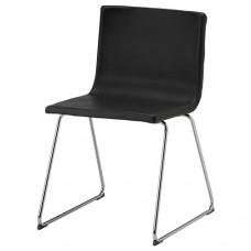 كرسي مطلي بالكروم لون أسود