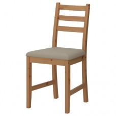 كرسي طلاء عتيق فاتح مقعد لون بيج