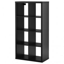 وحدة رفوف,أسود - بني 77x147 سم