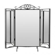 مرآة طاولة أسود
