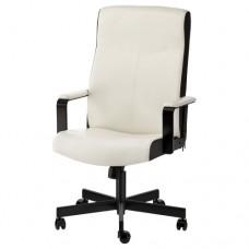كرسي دوار لون أبيض أسود
