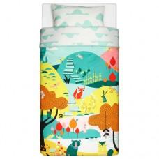 غطاء لحاف وكيس وسادة حديقة متعدد الألوان