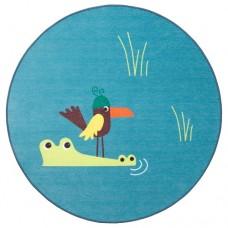 سجاد، حياكة مسطحة طائر أزرق