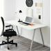 مكتب أبيض لون فضي 160x80 سم