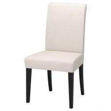 كرسي لون الارجل بني داكن لون القماش طبيعي