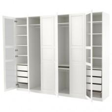 خزانة ملابس لون أبيض  زجاج  300x60x236 سم
