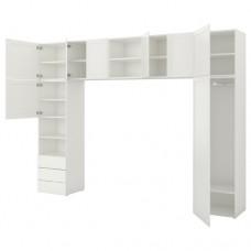 خزانة ملابس لون أبيض 340x42x241 سم