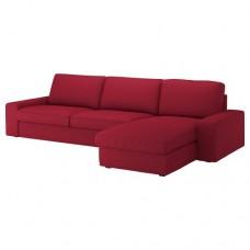 صوفا 4 مقعد بأريكة استرخاء أحمر