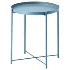 طاولة صينية لون أزرق