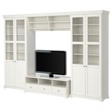 تشكيلة تخزين تلفزيون, أبيض 332x214 سم