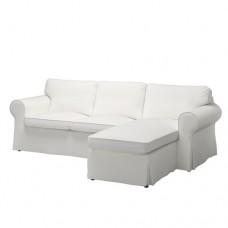 صوفا 3 مقعد مع أريكة استرخاء لون أبيض