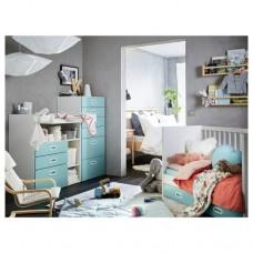 سرير أطفال مع أدراج+ طاولة تغيير مع أدراج+ خزانة ملابس+ فرشة (متوفره ب 3 الوان)