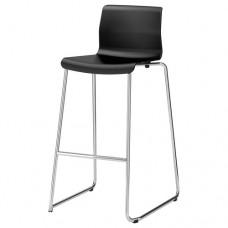 كرسي بار لون أسود, مطلي بالكروم 77 سم