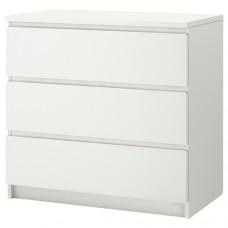 خزانة 3 جوارير لون أبيض