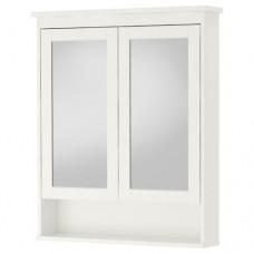 خزانة بمرآة مع بابين أبيض